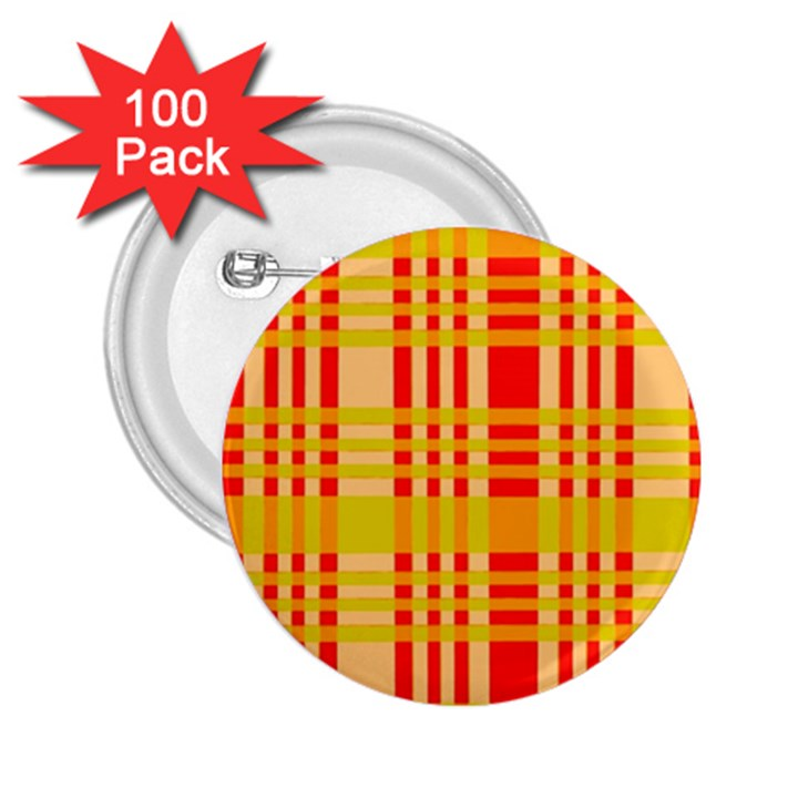 Check Pattern 2.25  Buttons (100 pack)