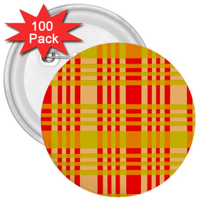 Check Pattern 3  Buttons (100 pack)