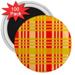 Check Pattern 3  Magnets (100 pack) Front