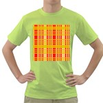 Check Pattern Green T-Shirt Front