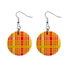 Check Pattern Mini Button Earrings
