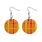 Check Pattern Mini Button Earrings Front