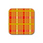 Check Pattern Rubber Coaster (Square)  Front