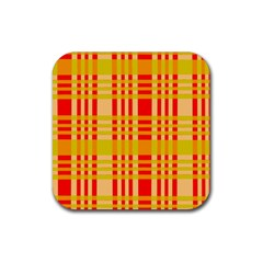 Check Pattern Rubber Square Coaster (4 pack)