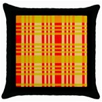 Check Pattern Throw Pillow Case (Black) Front