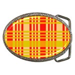Check Pattern Belt Buckles Front