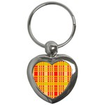 Check Pattern Key Chains (Heart)  Front