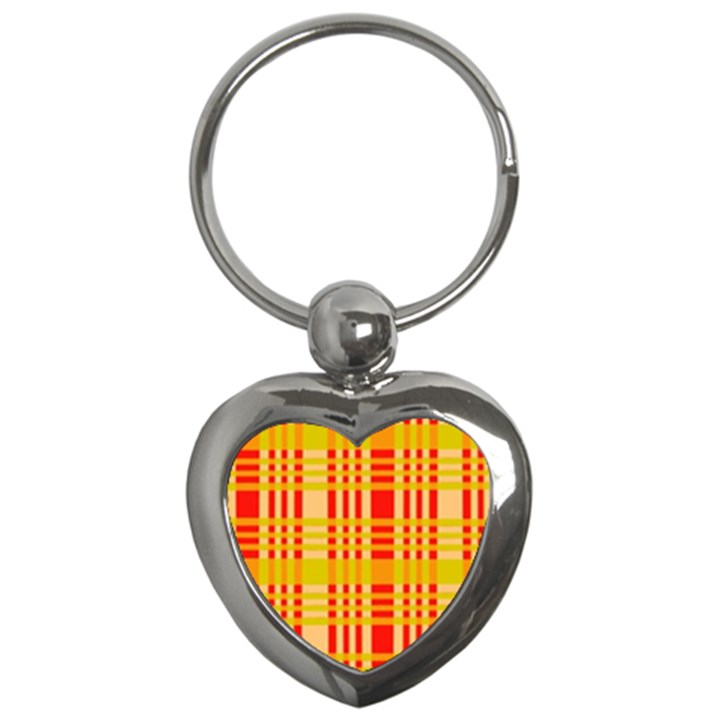 Check Pattern Key Chains (Heart)