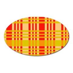 Check Pattern Oval Magnet