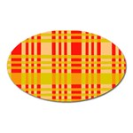 Check Pattern Oval Magnet Front