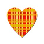 Check Pattern Heart Magnet Front