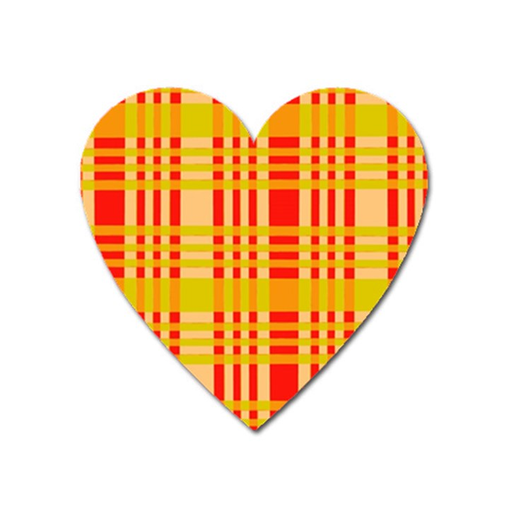 Check Pattern Heart Magnet