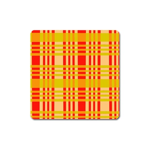 Check Pattern Square Magnet