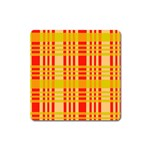 Check Pattern Square Magnet Front