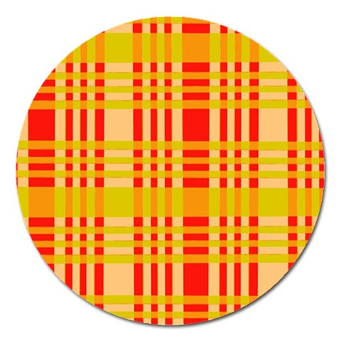 Check Pattern Magnet 5  (Round)