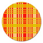 Check Pattern Magnet 5  (Round) Front