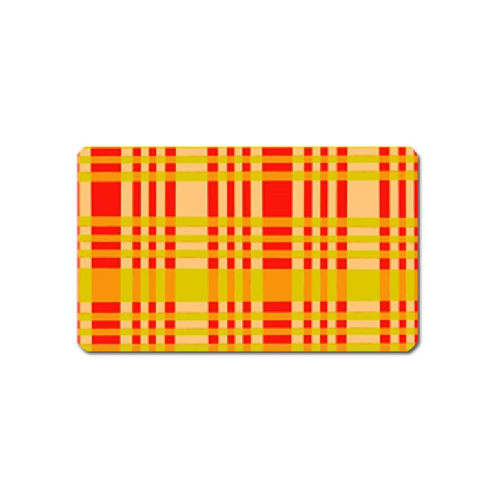 Check Pattern Magnet (Name Card)