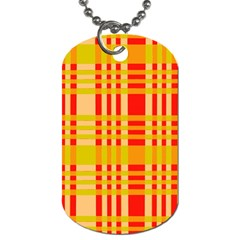 Check Pattern Dog Tag (One Side)