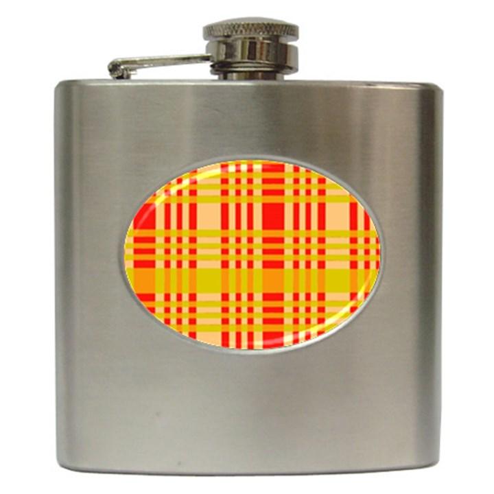 Check Pattern Hip Flask (6 oz)