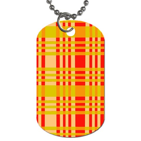 Check Pattern Dog Tag (Two Sides)