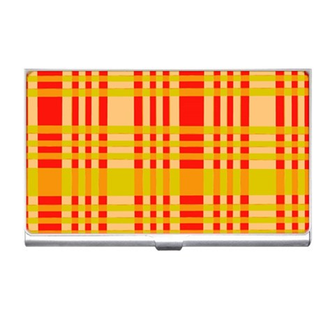 Check Pattern Business Card Holders