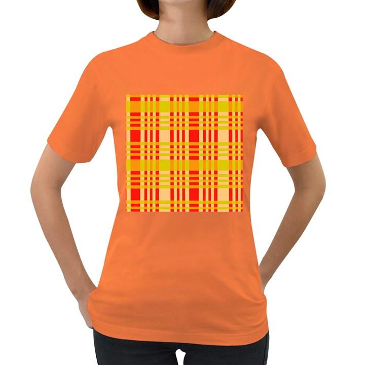 Check Pattern Women s Dark T-Shirt