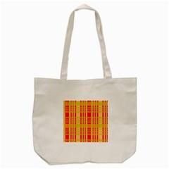 Check Pattern Tote Bag (Cream)