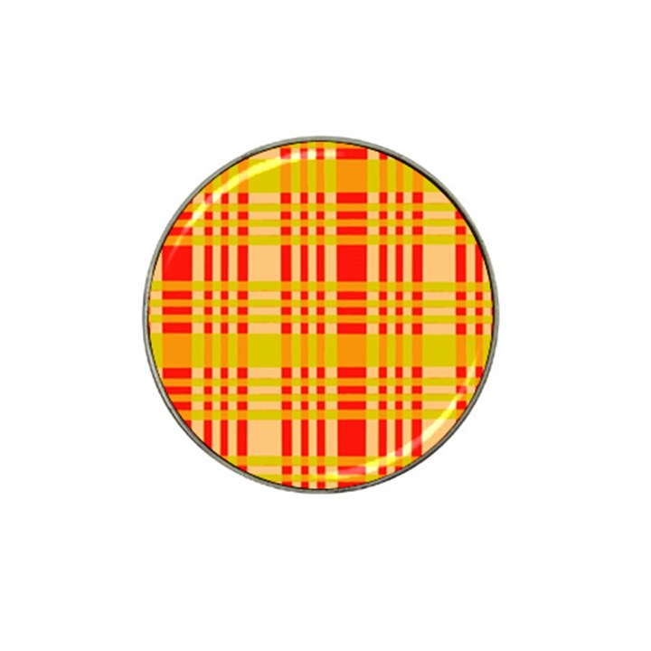 Check Pattern Hat Clip Ball Marker