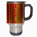 Check Pattern Travel Mug (Silver Gray) Right