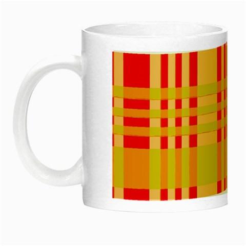 Check Pattern Night Luminous Mugs