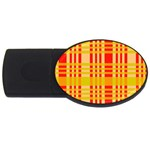 Check Pattern USB Flash Drive Oval (4 GB)  Front