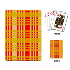 Check Pattern Playing Card