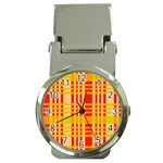Check Pattern Money Clip Watches Front
