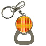 Check Pattern Bottle Opener Key Chains Front
