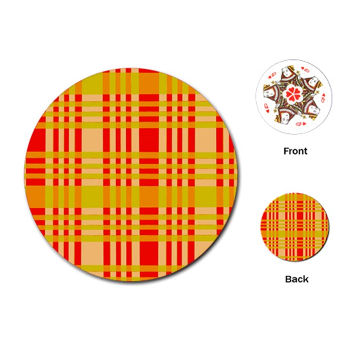 Check Pattern Playing Cards (Round)
