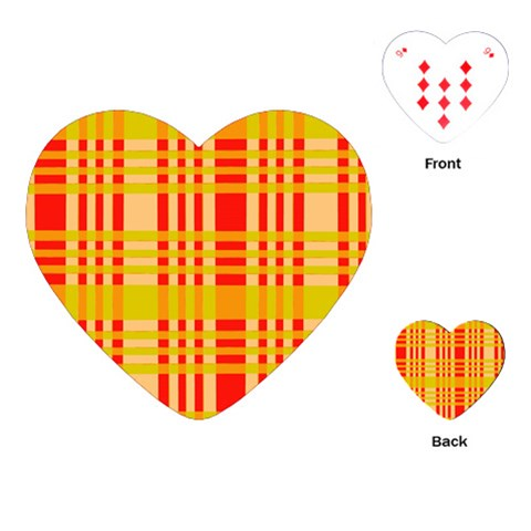 Check Pattern Playing Cards (Heart)