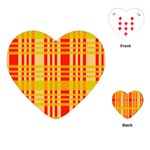Check Pattern Playing Cards (Heart)  Front