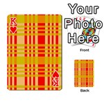Check Pattern Playing Cards 54 Designs  Front - HeartK