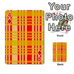 Check Pattern Playing Cards 54 Designs  Front - Diamond4