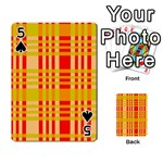 Check Pattern Playing Cards 54 Designs  Front - Spade5