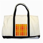Check Pattern Two Tone Tote Bag Front