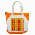 Check Pattern Accent Tote Bag Front