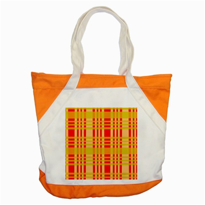 Check Pattern Accent Tote Bag