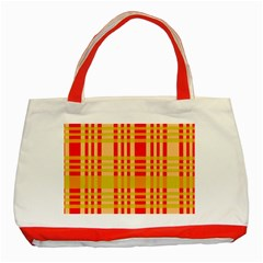 Check Pattern Classic Tote Bag (Red)