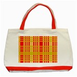 Check Pattern Classic Tote Bag (Red) Front