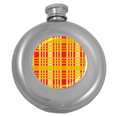 Check Pattern Round Hip Flask (5 oz)