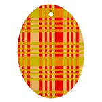 Check Pattern Oval Ornament (Two Sides) Front