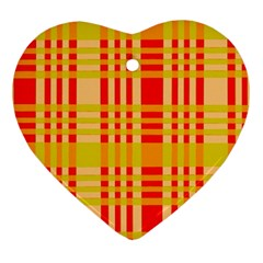 Check Pattern Heart Ornament (2 Sides)