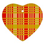 Check Pattern Heart Ornament (2 Sides) Back