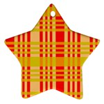 Check Pattern Star Ornament (Two Sides)  Back
